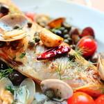 イルコルティーレ - その日お勧めの鮮魚をつかったアクア・パッツァ