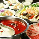 山海楼 - 火鍋コース 料理12品+飲放付6000円⇒4000円