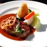 ガーデンレストラン 風舎 - 仔牛のヘレ肉のソテー・デミグラスソース