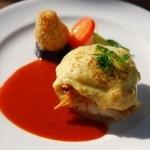 ガーデンレストラン 風舎 - タラのグラタン・カレー風味