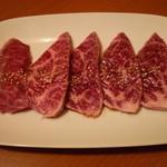 焼肉冷麺明月館 - 黒毛和牛赤肉 ハラミ