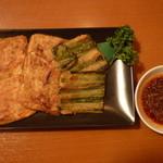 焼肉冷麺明月館 - チヂミ盛り合わせ