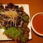 焼肉冷麺明月館 - センマイ刺し