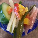 日光くじら食堂 - 前菜のサラダ