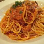 1594306 - 鰯と茄子のトマトソース(生パスタ)