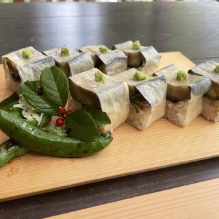一如庵 - 料理写真:大和菜寿司