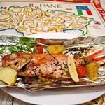トラットリア ボッカ ボーナ - 地魚の石窯焼き