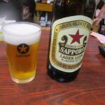 丸千葉 - サッポロクラシックラガー赤星大瓶で「洗浄」♪