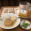 お好み焼き 都一 - 料理写真:晩酌セット(おでん3種+焼そば)¥980