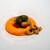 Takumi - 料理写真:2021.10 国産パプリカのムース ウニと本鮪の中トロ 海藻のジュレ パプリカとレフォール オールブランのクランブル