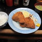 せきざわ食堂 - アジフライ定食 410円