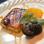 アルカレート - 2012-10-26 ディナータイム2回目。ドルチェ:オレンジ風味のクリームブリュレ