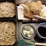 蕎麦彩膳 隆仙坊 - 料理写真:天かき揚げせいろ(二色蕎麦)