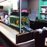 大連ラーメン - 大きくなりすぎた金魚は子供に人気です