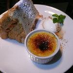 カフェ ニジョウヒピン - シフォンケーキとさつまいものブリュレ
