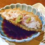 旬菜 籐や - 神奈川 生締めさば30秒レアカツ(ワサビ醤油で)