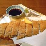 旬菜 籐や - 神奈川 生締めさば30秒レアカツ