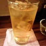 ぎょうざ 立ち飲み めだか - 緑茶ハイ