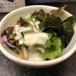 桃太郎すし - ランチセットのサラダ