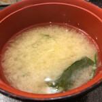 桃太郎すし - ランチセットの味噌汁