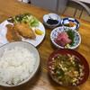 しいはし食堂 - 料理写真:アジフライとマグロぶつ@1250