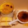 サトウヤ - 料理写真:杏仁マンゴー(480円)/クリームブリュレ(430円)/卵とチーズ(180円)×2