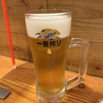 海鮮屋台おくまん - 生ビール中