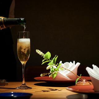 好みやお食事に合わせたワインをご提供いたします