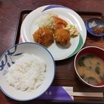 159554569 - 『カニクリームコロッケ定食 650円』