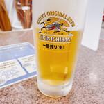 まるひで食堂 - 生ビール 650円 キリン一番搾り
