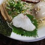 自家製麺 ら~めん かり屋 - 鯛の切り身