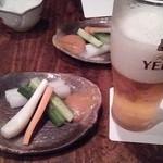 15956506 - お通しと生ビール