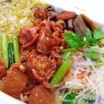 アジアンランチ - 名古屋のモツどて煮をちょっぴりトッピング(旨っ!)