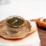 ジョンティ アッシュ - 2021.10 浜名湖産どうまん蟹のパルフェ 根セロリのエスプーマ 蟹味噌のクレープ