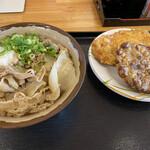 キリン - 料理写真:肉ぶっかけ と、天ぷら2品
