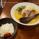 麺や七福 - 味噌ラーメン+小ごはん2021.10.04