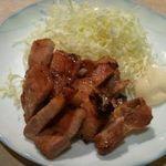 焼鶏館 - 豚の味付きあみ焼き550円