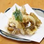 きく弥 - メゴチとごぼうの天ぷら