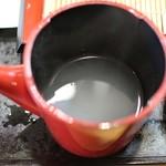 きく弥 - 蕎麦湯
