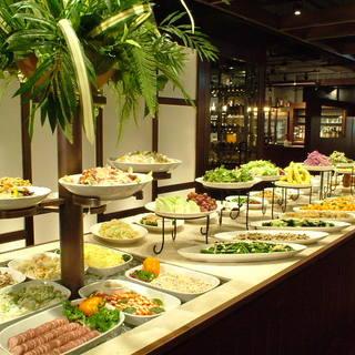 50種類以上が食べ放題◎ブラジル料理をビュッフェでも♪