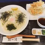 麺一滴 - 料理写真:ぶっかけうどん、かき揚げ
