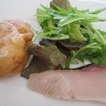 リストランテ シエロ - 寒ブリとゼッポレと生野菜