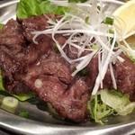串のきいち - ★炭焼き ネギ塩タン★ 750円