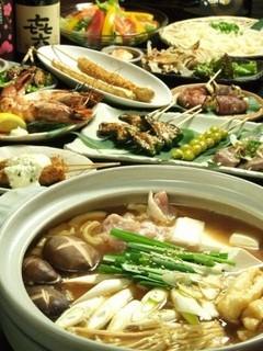 串のきいち - きいち自慢の鍋宴会コース全12品 4000円