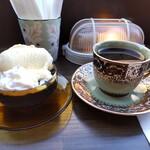 Jazzと喫茶 囃子 - 珈琲ゼリー、ブレンドコーヒー