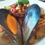 15962141 - 貝類とフレッシュトマトのリングイネ