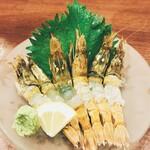 村上水産仲買人直営店鮮魚部 - 料理写真:もさ海老の刺身