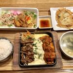 韓美膳 - チーズダッカルビ&牛カルビのセット