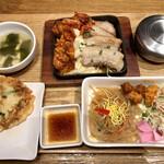 韓美膳 - 三元豚&チーズダッカルビのセット