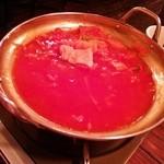 MANGUEIRA TEPPAN + - トマト鍋(1人前)…ほぼ食べ終わりですみません